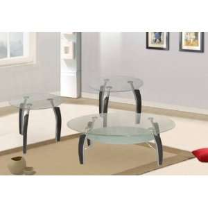 Clear Tempered Glass Coffee Table + 2 End Tables
