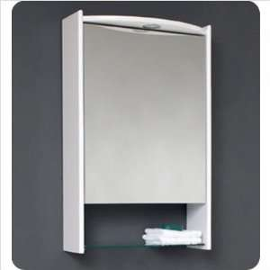 Bath FMC5025WH White Acrylic Bathroom Medicine Cabinet with Glass