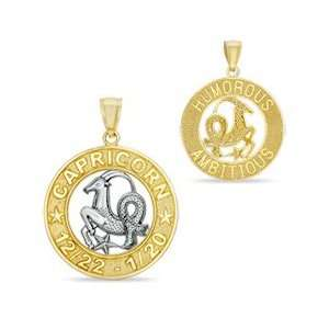 Capricorn Charm in 10K Two Tone Gold 10K CELESTIAL CHARMS Jewelry