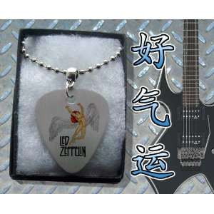 Led Zeppelin Metal Guitar Pick Necklace Boxed Music