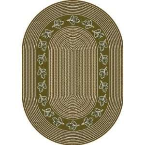 Braid Tobacco Country 7.7 ROUND Area Rug
