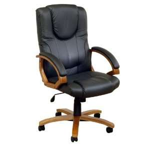 Dallas Multi Position Leather Office Chair, Charcoal