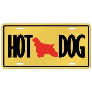 New  Cocker Spaniel   Hot Dog  License Plate Dog
