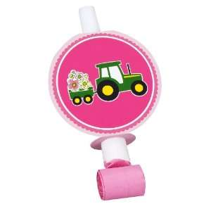 John Deere Pink Blowouts (8) Party Supplies Toys & Games