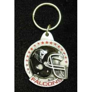 Atlanta Falcons Team Helmet Key Ring (Set of 2)  Sports