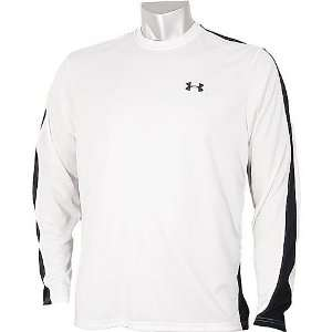 Under Armour Mens HeatGear Zone Long Sleeve Shirt Color White