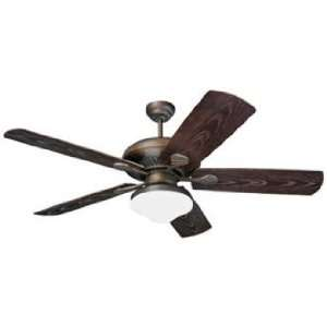 Carlo Shores Bronze Outdoor Ceiling Fan with Light