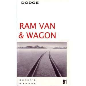 1991 DODGE RAM VAN Owners Manual User Guide Automotive