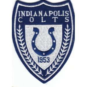 Vintage NFL 1980s Indianapolis Colts Crest Logo 5 Sew On Patch