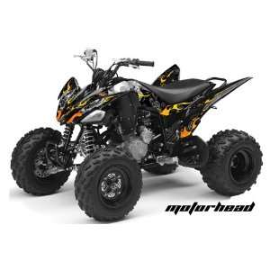 AMR Racing Yamaha Raptor 250 ATV Quad Graphic Kit   Motorhead Black