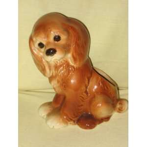 Vintage Royal Copley Pottery  Cocker Spaniel  Dog 8 Inch