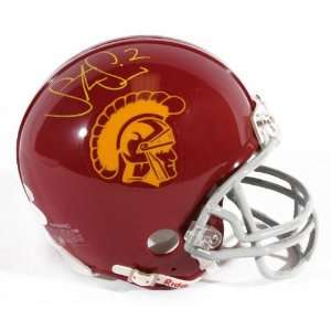 Steve Smith Signed USC Trojans Mini Helmet   JSA   Autographed College