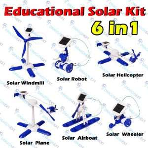 6 In 1 Solar Energy DIY Assemble Educational Kits Toys 3rd