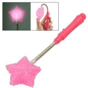 Pink Plastic Star Shaped 3 Modes White LED Light Stick