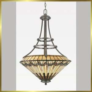 Tiffany Chandelier, QZTFAD2823VA, 3 lights, Antique Bronze, 23 wide X