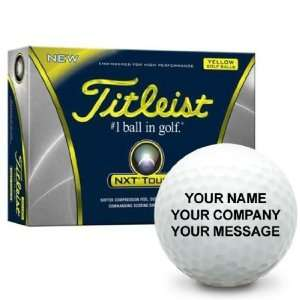 Titleist NXT Tour S Yellow Personalized Golf Balls  Sports