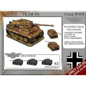 Forged in Battle (15mm WWII) German Tiger 1H Platoon Tanks (3)  Toys