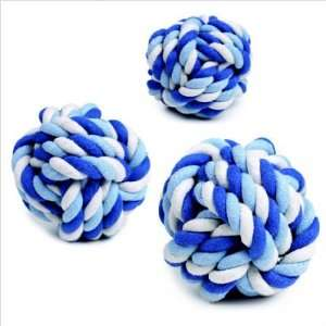 Rope Knot Blue Dog Toy Size Small