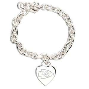NFL Kansas City Chiefs Bracelet   Heart Charm Sports