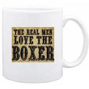 New  The Real Men Love The Boxer  Mug Dog