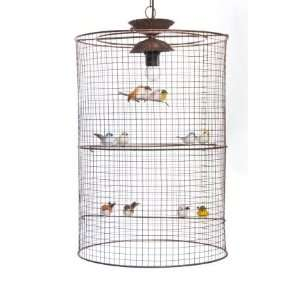 Hanging Bird Cage Lamp By Glenna Jean Baby