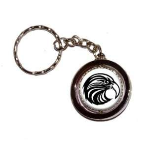 Eagle Hawk Raptor Bird on White   Key Chain Keychain Ring
