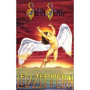 LED ZEPPELIN Original 1986 SWAN SONG POSTER Sealed