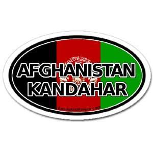 Afghanistan Kandahar and Afghan Flag Car Bumper Sticker