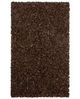 St. Croix Trading Company Rugs, Marsh LL08 Leather Shag Dark Brown