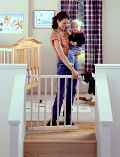 STATES Wood Stairway Swing Baby Safety Pet Gate 026107046307