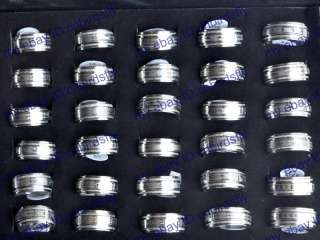 NEW Wholesale jewelry mixed lots 20pcs Spin Stainless steel Rings free