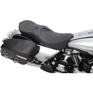 Drag Specialties Black Pinstripe Low Profile Touring Motorcycle Seat