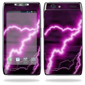Maxx Android Smart Cell Phone Skins   Purple Lightning Cell Phones